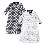 Hudson Baby Unisex Baby Long Sleeve Wearable Sleeping Bag/Blanket, Elephant 2-Pack, 3-9 Months (9M)