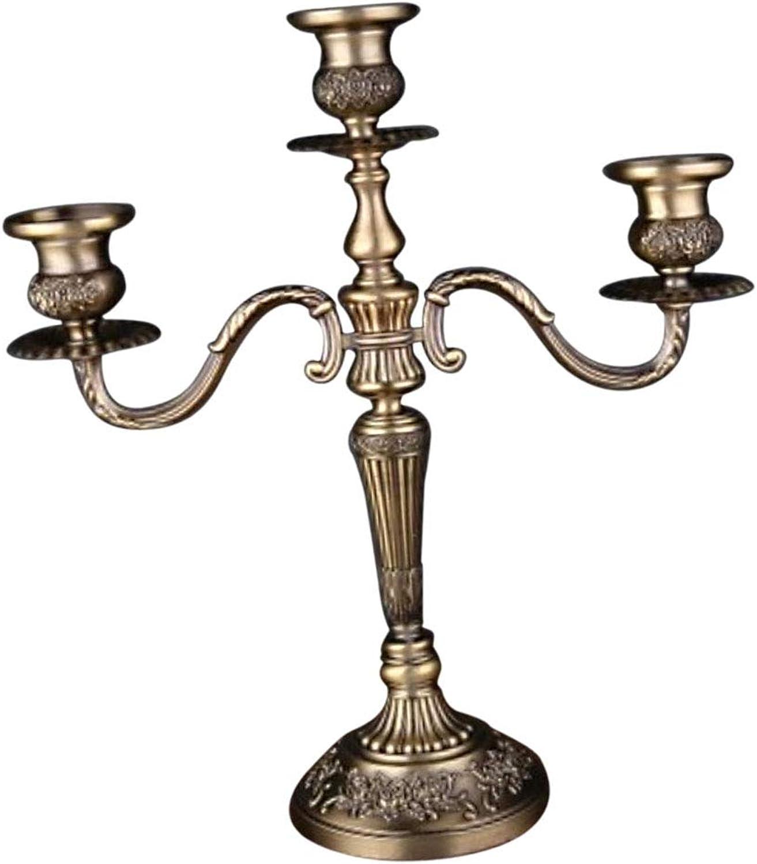SM SunniMix Europäischer Stil Kerzenleuchter 3 5-Armig Kerzenständer Tischleuchter Tischleuchter Tischleuchter - Antike Style 3 Arme B07MD43BQ2 3f3519