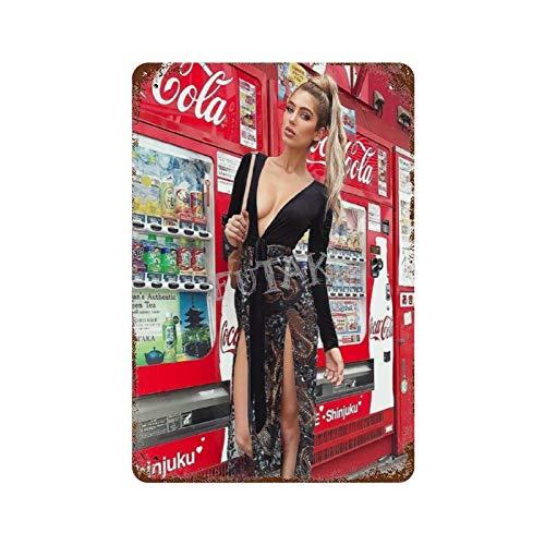 Coca Cola Sexy Strümpfe 1 Vintage Blechschild Kunst Eisen Gemälde Rostig Poster Dekoration Aluminium Plakette interessante Persönlichkeit Band Film für Hotel Cafe