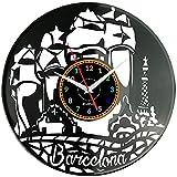 Barcelona Reloj de pared Vinilo Vinilo Vinilo Reloj Retro Hecho a...
