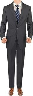 Men's Three Button 2 Piece Suit Pleated Pants
