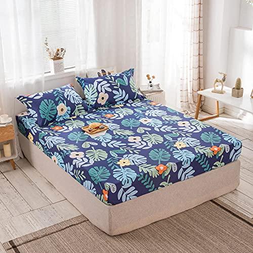 FJMLAY Sábanas de Cama Transpirable,Sábanas de algodón para Cama, Almohadillas Protectoras para Dormitorio Apartments-S_180cmx200cm