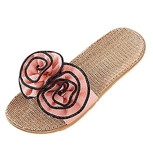 GEU - Sandalias de verano para mujer, diseño floral