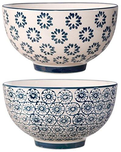 Bloomingville Schalen Kristina, saphirblau, Keramik, 2er Set