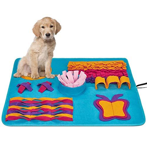 Snuffle Mat per Cani Grande Sniffing Tappeto Pieghevole per Cani Dog Sniffing Mat Sniffing Pad Lavabile Giocattolo di Intelligenza Stuoia per Cani Tappeto Antiscivolo Pet Tappetino 69 * 59cm