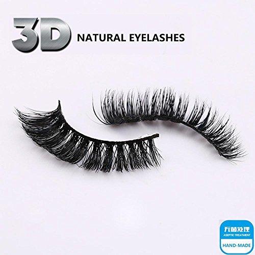Faux cils - 1 paire de paquets de haute qualité Natural Faux cils 3D naturel Look pour maquillage Extension de cils , 3D-55