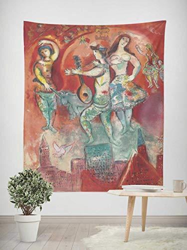 Tapiz Pared,Tapiz Superficie lijada,Colcha de pícnic,Manta de Pared,omnihabits Tapiz,paño de Pared, tapicería, Cuadros famosos Chagall Metropolitan Opera 130×150cm