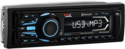 Boss Audio Systems MR1308UABK Single DIN Mechless Bluetooth Enabled MP3 Compatible Solid State Receiver
