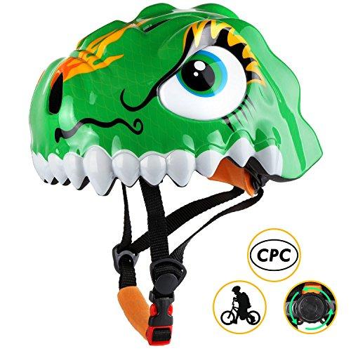 Discover Bargain Shinmax Kids Bike Helmet, 3D Cartoon Toddler Helmet CPC&CE Certified Children Multi...