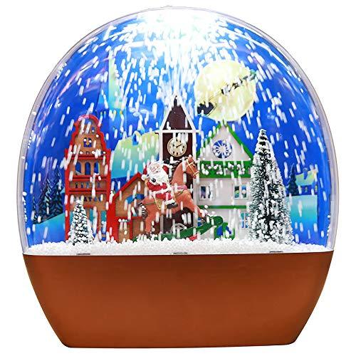 FGAITH Kerstmis snow light decoratie sneeuw slinger licht muziek licht creatief hanger sfeerlicht