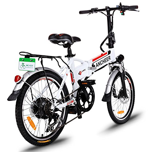 ANCHEER Folding Electric Bike with 36V 8Ah Removable Lithium-Ion Battery, 20 inch Ebike with 250W...