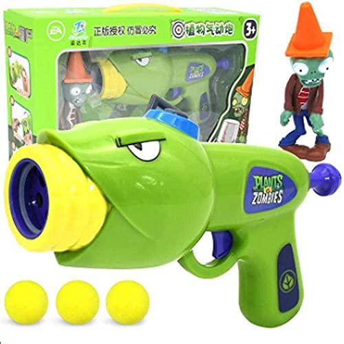 1 Piezas Nuevas Plantas vs Zombies Juguetes Modelo de muñeca en Movimiento Juguetes Pea Shooter cañón de maíz Planta Aire cañón Eva Suave Bala Modelo de Pistola