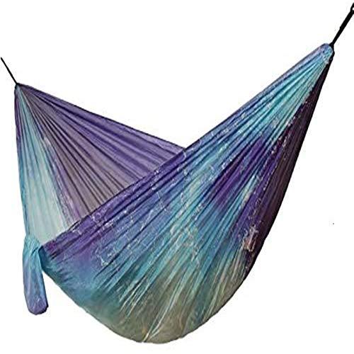 Hamaca portátil para Acampar, Hamaca con paracaídas oceánico, Silla Colgante para Acampar, Columpio para jardín, Muebles, Silla Columpio de Tela Estampada