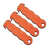 Sicherheitsmesser Kartonmesser Messer Zum Öffnen Von Kartons/Kartonöffner - Sicherheits-Cutter/Folienschneider/Papierschneider - Klever Kutter - orange (3 Stück)