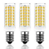 Bombillas LED E14 Brolight , Sin Parpadeo, Regulable, Tornillo Edison Pequeño SES, Blanco Cálido (3000K), 8W Equivalente a Bombillas Halógenas de 60W,, AC230V, Paquete de 3 [Clase de Energía A +]