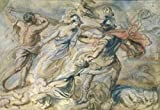 Peter Paul Rubens – Battle of Mars and Minerva Study by