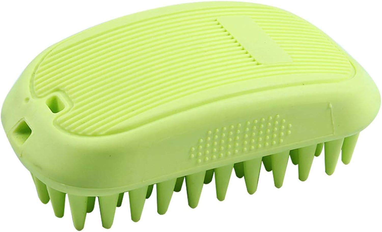 HUYP Bath Brush Wash Dog Wash Cat Massage Brush Puppies Cat Size Dog Bath Supplies Needle Comb (color   Green)