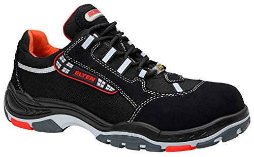 ELTEN Sicherheitsschuhe SENEX ESD S3, Herren, sportlich, leicht, schwarz, Kunststoffkappe - Größe 42