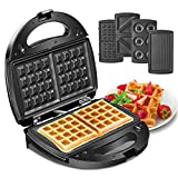 Godmorn Waffle Maker 4 in 1, Sandwich Toaster, Panini Press Grill, Donut Doughnut