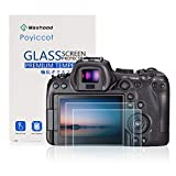 Poyiccot for Canon EOS R6 Screen Protector Tempered Glass, 2Pack 9H HD Scratch Resistant Camera Protective Film Tempered Glass Screen Protector for Canon EOS R6 Digital Camera