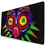 The Legend of Zelda The Ancient Evil Majoras Mousepad Gaming Mouse Pad Keyboard Ergonomic Mat Gamepad with Stitched Edge Wrist Support Rests Large Mouse Pad for Pc Computer Laptop 15.8x29.5 in