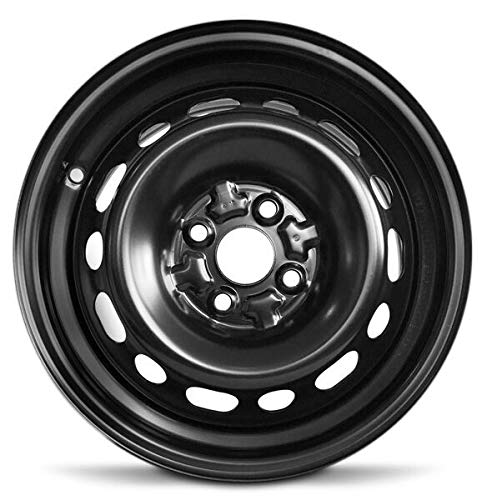 Road Ready Car Wheel for 2004-2006 Scion XB 15 Inch Black 4 Lug Steel Rim Fits R15 Tire - Exact OEM Replacement - Full-Size Spare