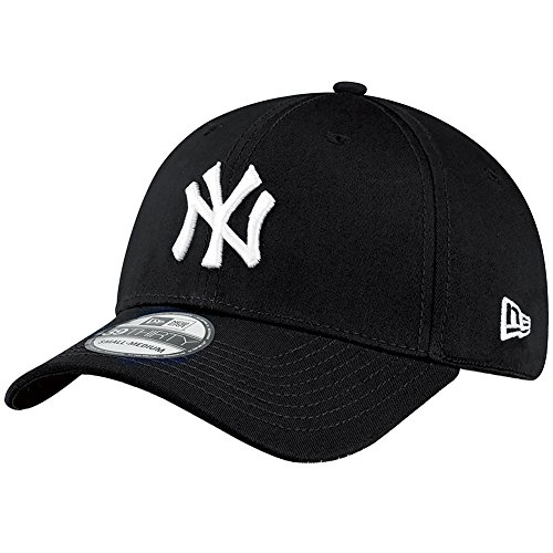 New Era Herren Baseball Cap Mütze M/LB Basic NY Yankees 39Thirty Stretch Back,Black/White, M/L