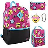 Trail maker 5 in 1 Full Size Character School Backpack and Lunch Bag Set For Girls (Smiles)