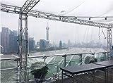 YSHCA Lona Impermeable Lona Alquitranada, Multipropósito Lonas Transparente Resistente al Agua Resistente al Desgaste para La Carpa Bote Cubierta De Piscina,7x33ft(2x10m)