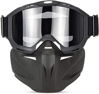 Esquí Deportes al Aire Libre Gafas Anti-UV Gafas multifuncionales de máscara de Caballero Gafas Cross-Country Anti-Impacto Gafas de Moto Ligeras para Montar y Escalar, Transparente