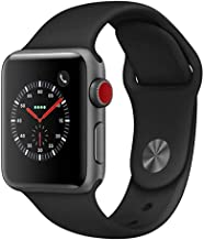 Apple Watch Series 3 38mm Space Gray Aluminum Case with Black Sport Band (GPS + Cellular LTE)