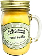 Our Own Candle Company French Vanilla Scented 13 Ounce Mason Jar Candle Company, 13 oz