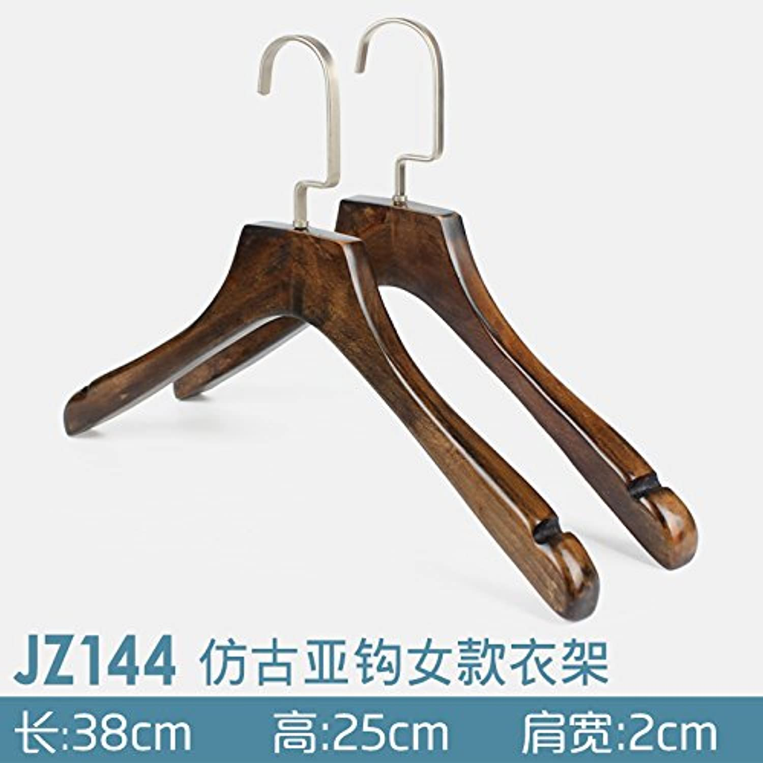 U-emember Home Suits Non-Slip Wooden Coat Hangers Wooden Poles Adult Clothing And Non-Marking Solid Wood Hangers, Coat Hanger ,30,Jz144-3824 Thick 2.4 Ladies