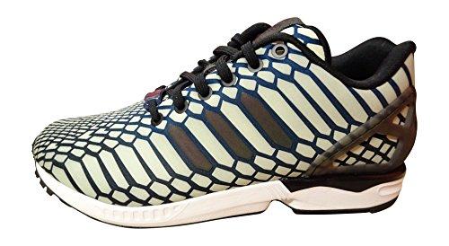 Adidas Originals ZX FLux Xeno Herren Laufschuhe Sneakers Schuhe, Weiß - Marineblau Schwarz Weiß Aq4534 - Größe: 40 EU