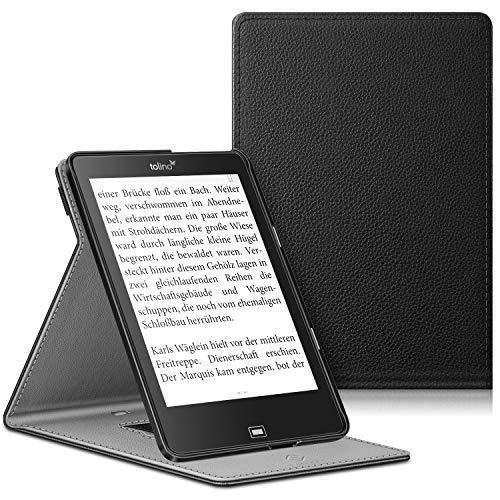 Fintie Hülle kompatibel für Tolino Epos e-Book Reader - Multi-Sichtwinkel Schutzhülle mit Handschlaufe, Auto Sleep/Wake und Standfunktion, Schwarz