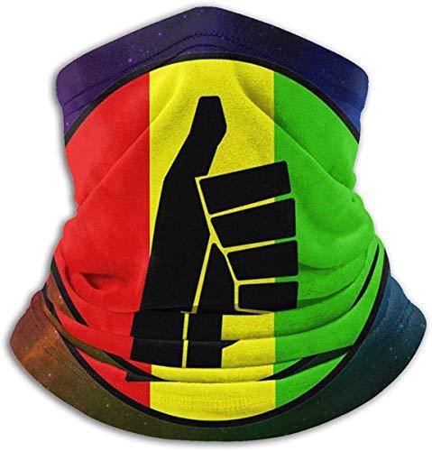 Unisex Negro por demanda popular Logotipo fuerte Forro polar de invierno Polainas más cálidas Banda para el cabello Tubo para clima frío Mascarilla Bufanda térmica Cuello exterior Protección UV Cubierta para fiesta