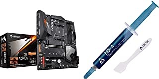 GIGABYTE X570 AORUS Elite Wi-Fi & Arctic MX-4 - Thermal Compound Paste for Coolers   Heat Sink Paste   Composed of Carbon ...