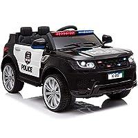 Kinder Elektroauto elektrisches Kinderauto Polizeiauto US-Police SUV mit 12V Akku 2x45W Motoren weiche Eva-Reifen Ledersitz