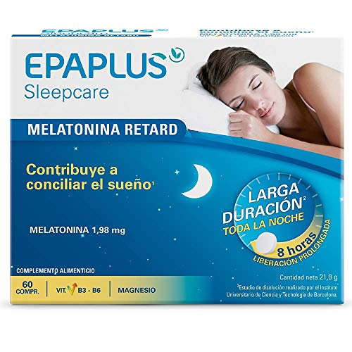 Epaplus Melatonina Retard Pura Sin Triptófano 60 Comp 20 g