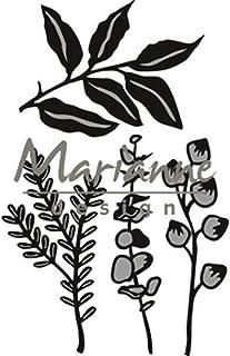 Marianne Design CR1432 Craftables Matrices Herbes et Feuilles, Métal, Noir, 17 x 8 x 0,5 cm