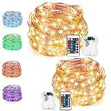 LED String Lights,Battery Powered Multi Color Changing String Lights with Remote,50 LEDs Indoor