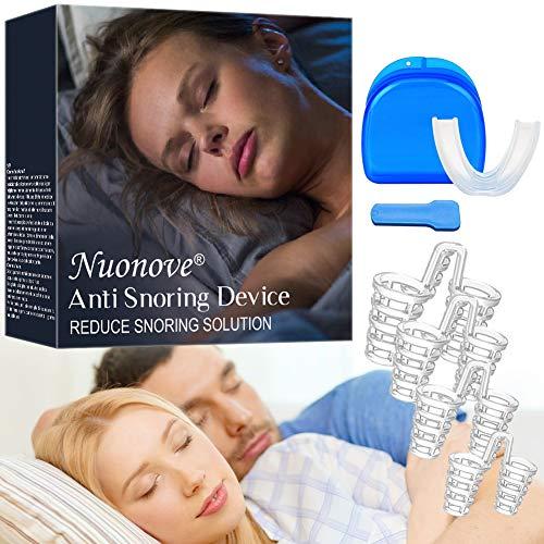 Dilatador Nasal, Anti Ronquido, Dejar De Roncar, Férulas Dentales, 2-en-1 Dispositivos Anti Ronquidos, Promover la respiración y Molares durmientes