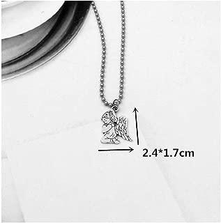 Stainless Steel Beads Chains Cute Rabbit Alien Leaf Dollars Angel Necklaces Men Punk Necklace Pray Angel 003 50Cm
