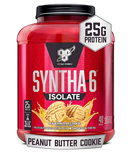 BSN SYNTHA-6 ISOLATE Protein Powder Drink, Peanut Butter Cookie 4.02lb (48 serv)
