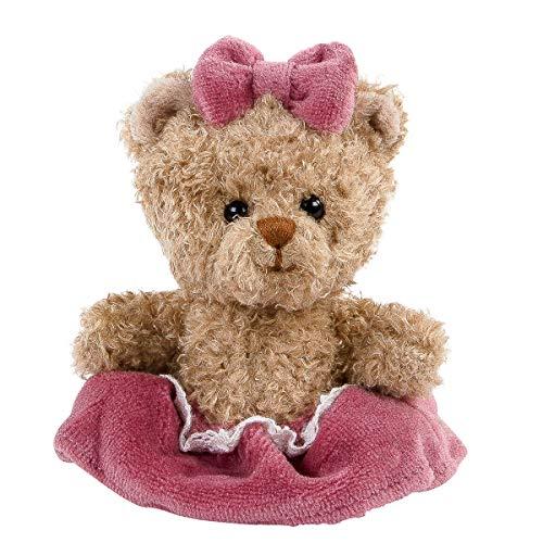 Bukowski - Design of Sweden Teddybär Cupcake Dame braun 10 cm mit Kleid Plüschtier Stofftier Kind Baby Spielzeug