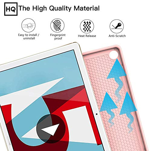 ZtotopCase Huawei M5 10.8 Hülle,Ultradünne Smart Cover Schutzhülle mit Stifthalter, Automatischem Schlaf/Aufwach, Kompatibel für Huawei MediaPad M5 /M5 Pro 10.8 Zoll 2018,Roségold - 2