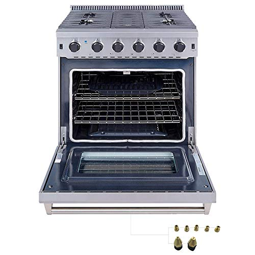 Thor Kitchen 30 inch Freestanding Pro-Style Gas Range with 4.55...