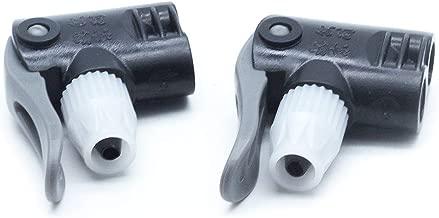 AUTUT 2pcs Black Plastic Dual Head Bike Bicycle Pump Head Nozzle Hose Adapter Connector