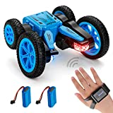 Advanced RC Stunt Car with 2 Free Rechargeable Batteries, 2.4GHZ Remote Control Car with Gesture Sensor Watch by NONZERS, 4WD Deformable 360° Rotation Racing Car Toy Gift for Kids Teens