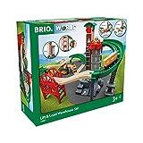 Brio 33887 Set Almacén con Montacargas, Red Ferroviaria BRIO World, Edad Recomendada 3+